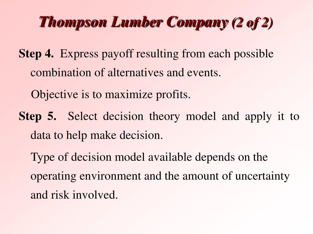 Thompson Lumber Company