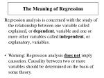 the meaning of regression