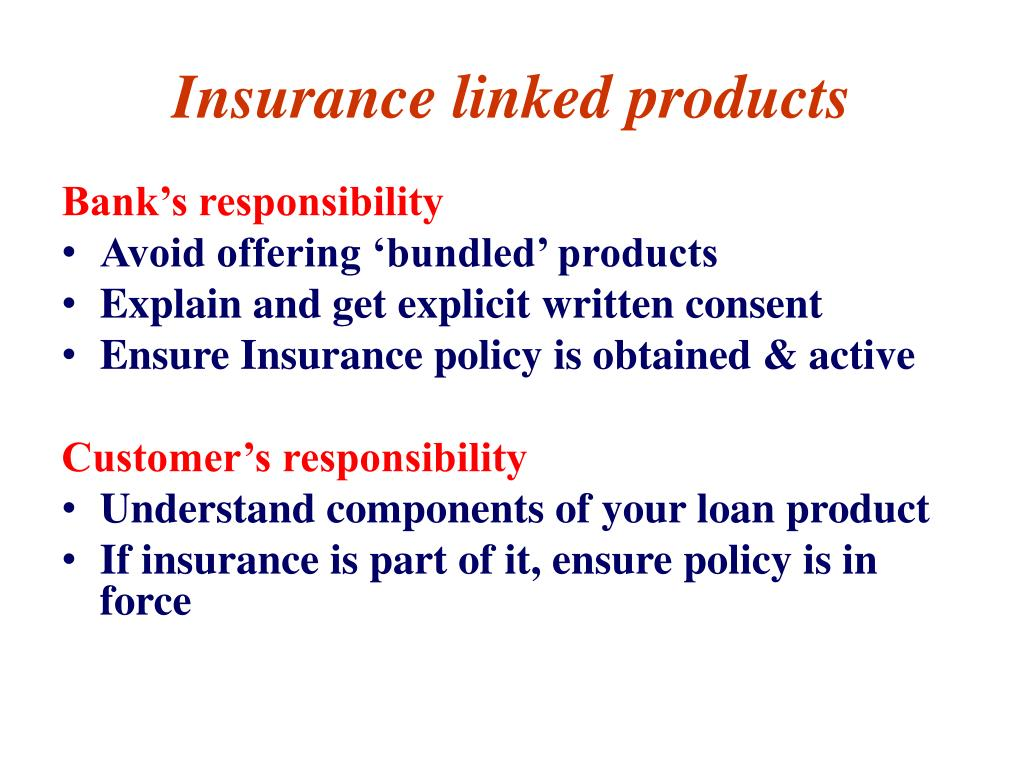 Insurance linked products