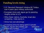 funding levels rising