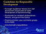 guidelines for responsible development