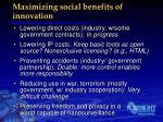 maximizing social benefits of innovation