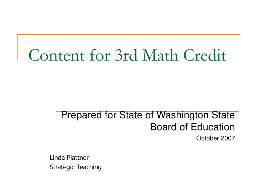 content for 3rd math credit l.