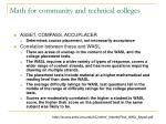 math for community and technical colleges