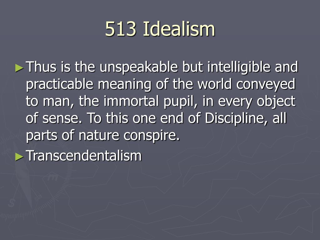 513 Idealism