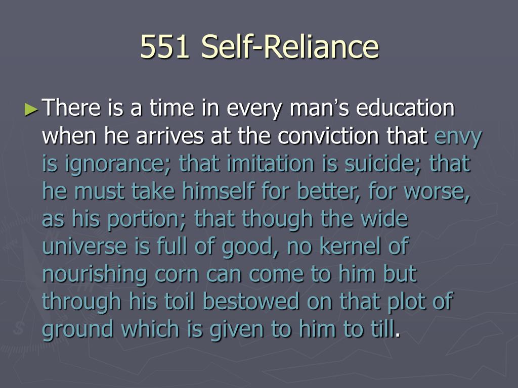 551 Self-Reliance