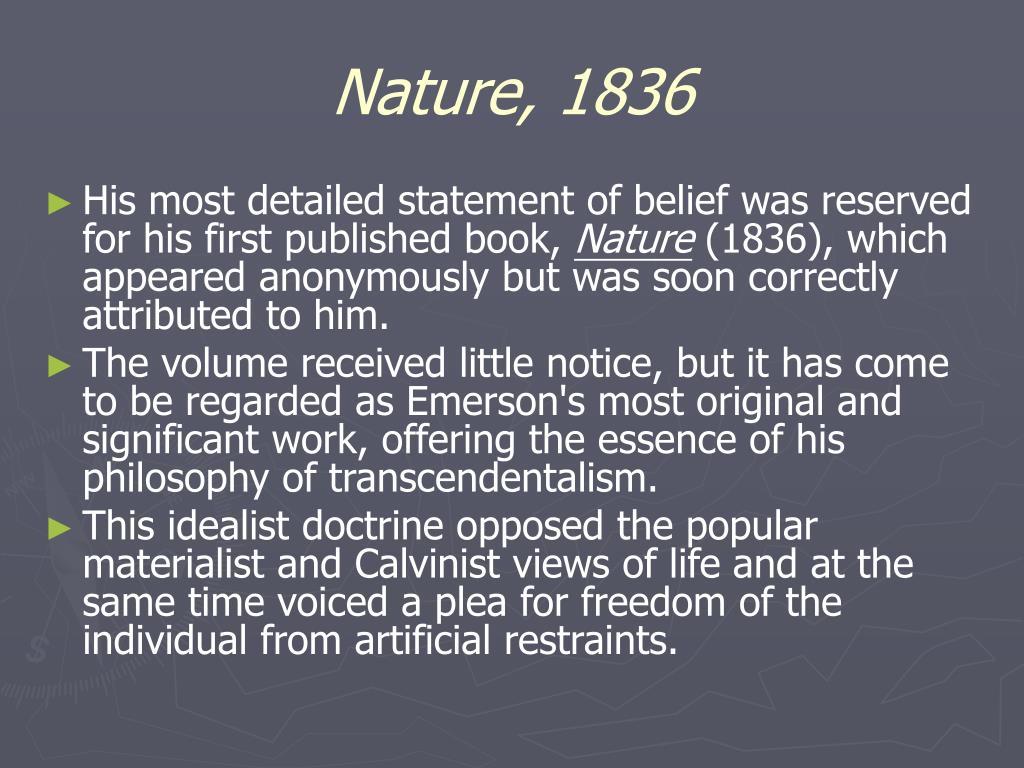 Nature, 1836