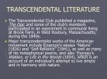 transcendental literature8