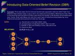 introducing data oriented belief revision dbr8