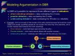 modeling argumentation in dbr12