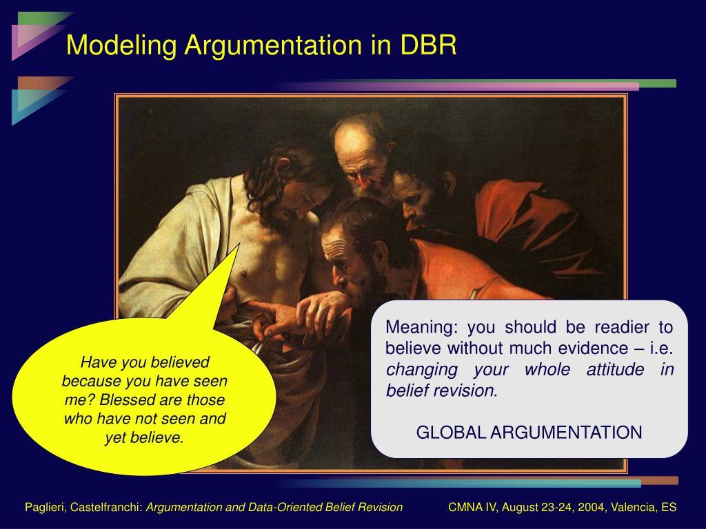 Modeling Argumentation in DBR