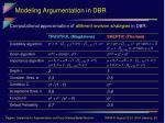 modeling argumentation in dbr17