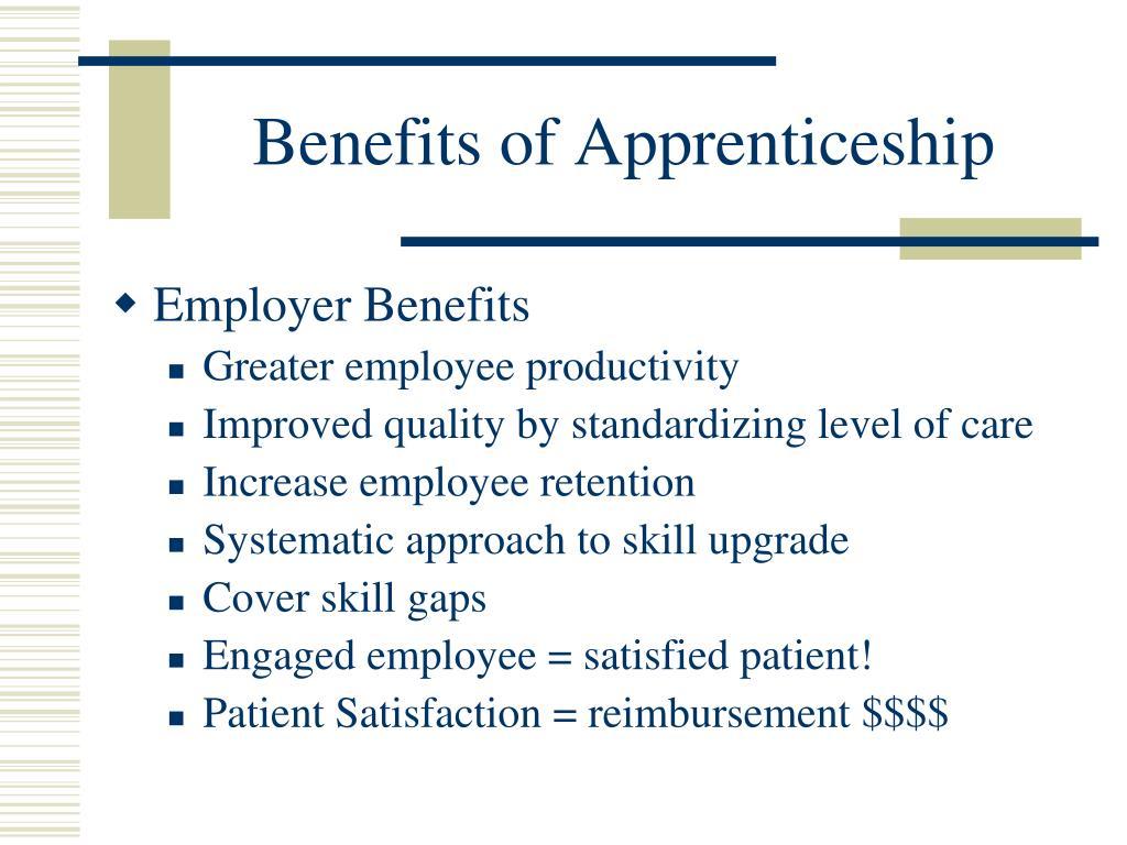 Benefits of Apprenticeship