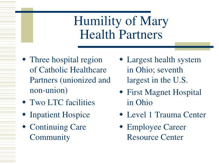 Humility of mary health partners
