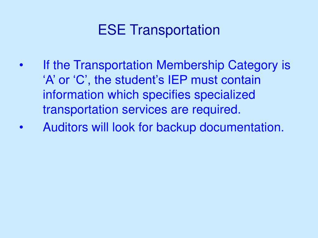 ESE Transportation