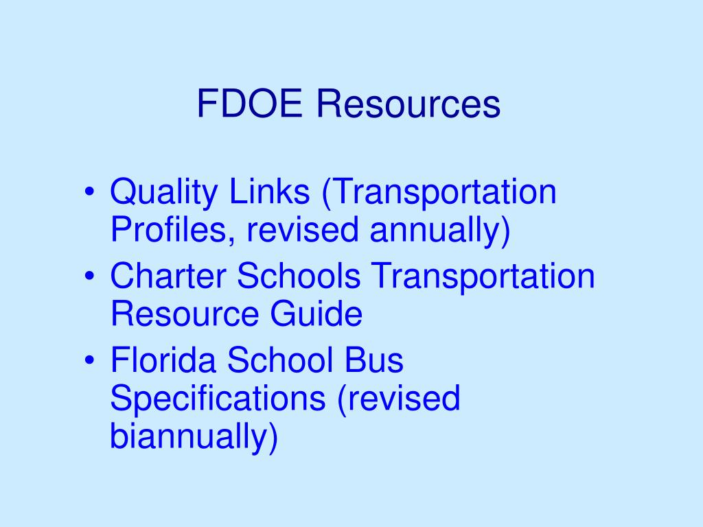 FDOE Resources