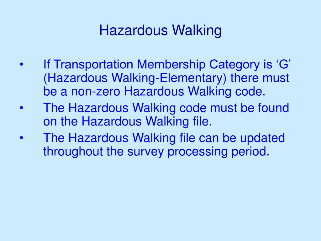Hazardous Walking