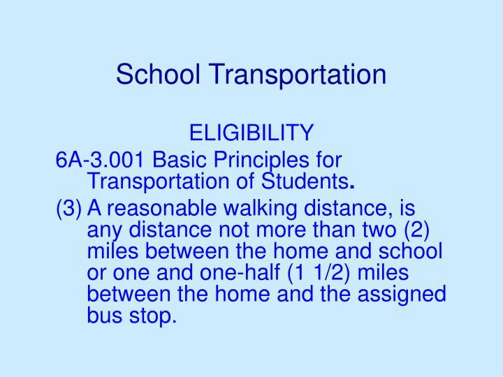 School transportation3
