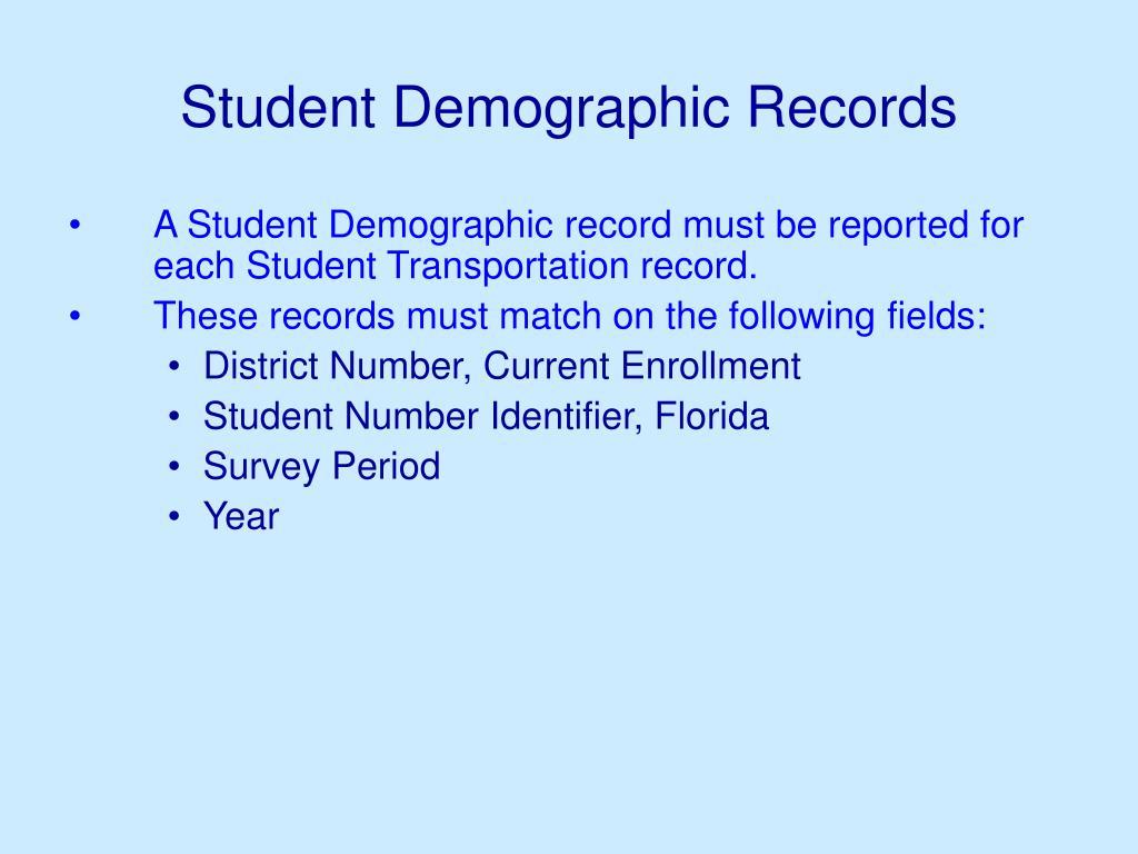 Student Demographic Records