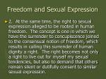 freedom and sexual expression