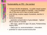 sustainability on pei the context