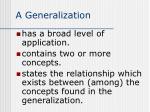 a generalization