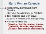 early roman calendar50