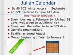 julian calendar58