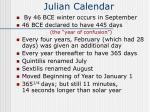julian calendar59