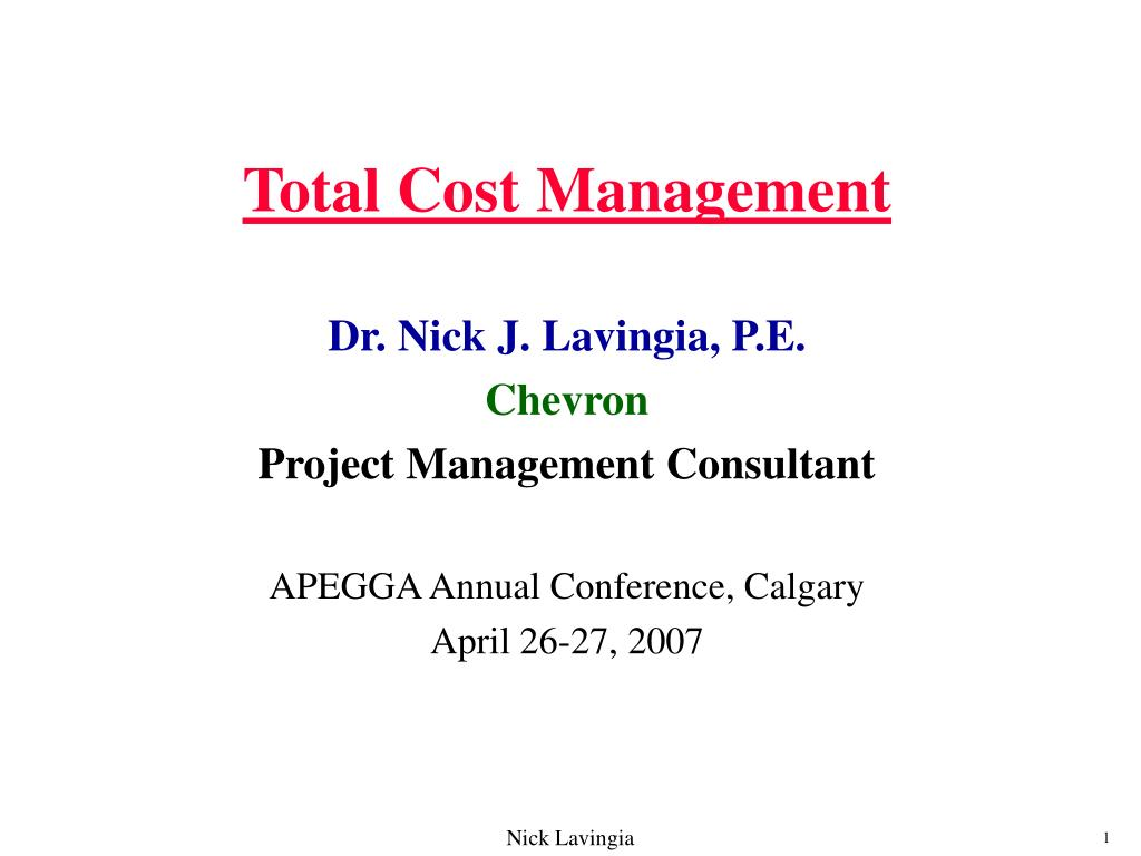 total cost management l.