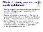 effects of training provision on supply and demand