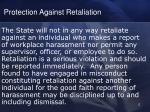 protection against retaliation