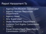report harassment to
