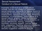 sexual harassment conduct of a sexual nature