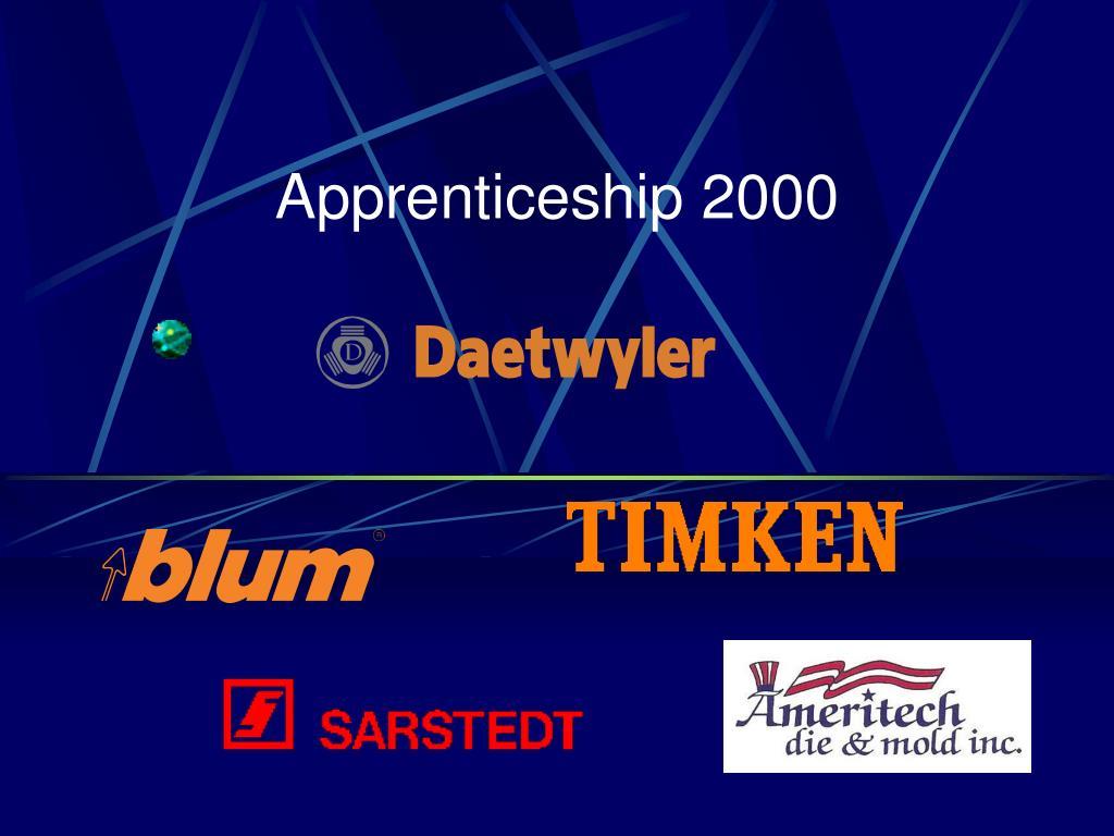 apprenticeship 2000 l.
