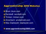 apprenticeship 2000 websites
