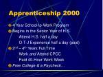 apprenticeship 20003