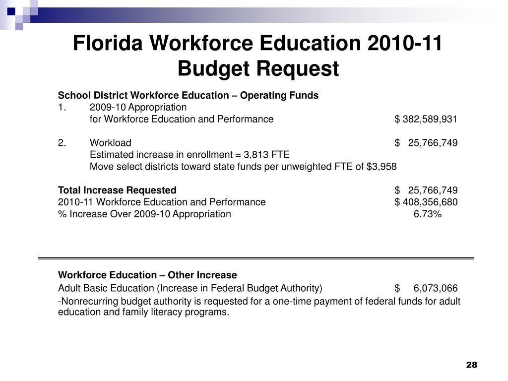 Florida Workforce Education 2010-11