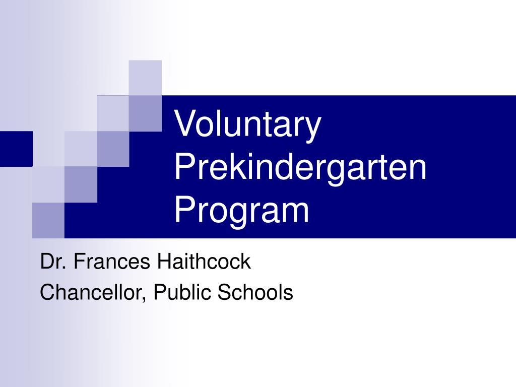 Voluntary Prekindergarten Program