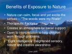 benefits of exposure to nature
