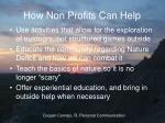 how non profits can help