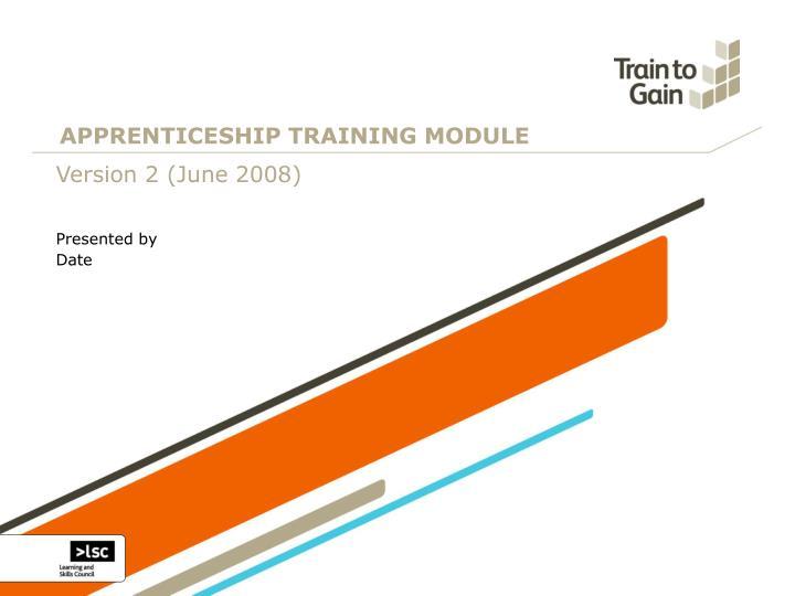 Apprenticeship training module