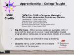 apprenticeship college taught8