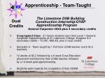 apprenticeship team taught