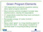 green program elements