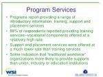 program services