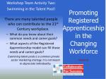 promoting registered apprenticeship in the changing workforce36