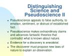 distinguishing science and pseudoscience ii