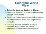 scientific world view ii