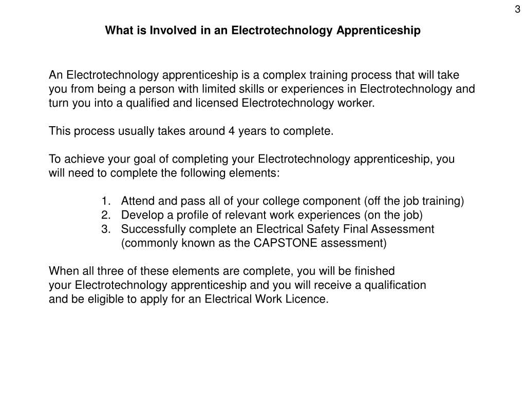 What is Involved in an Electrotechnology Apprenticeship